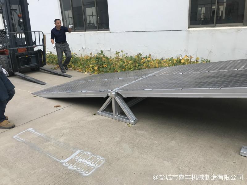 天水载重12吨装卸车小型铝合金山阴登车桥在哪里买【保质保量】